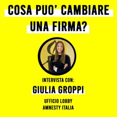 Il Gruppo Giovani Milano intervista a Giulia Groppi.